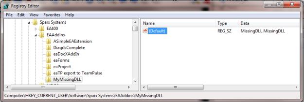 EA Add-In registry key