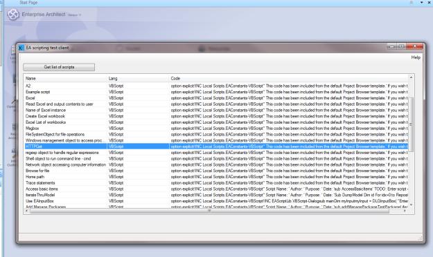 Script tester list of scripts